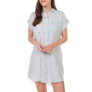 Thread & Supply Raw Hem Chambray Dress
